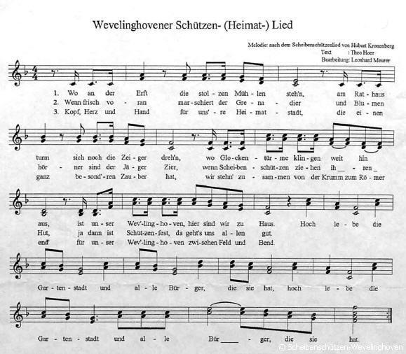 Wevelinghovener Schützen- und Heimatlied