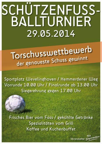 Plakat Fussballturnier 2014