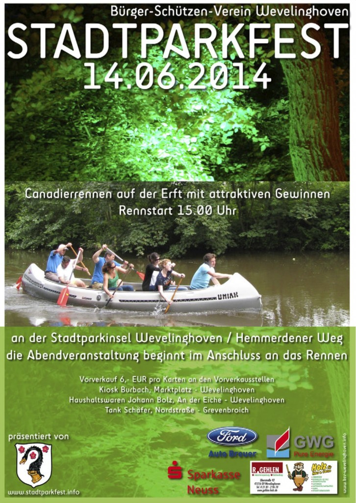 Plakat Stadtparkfest 2014