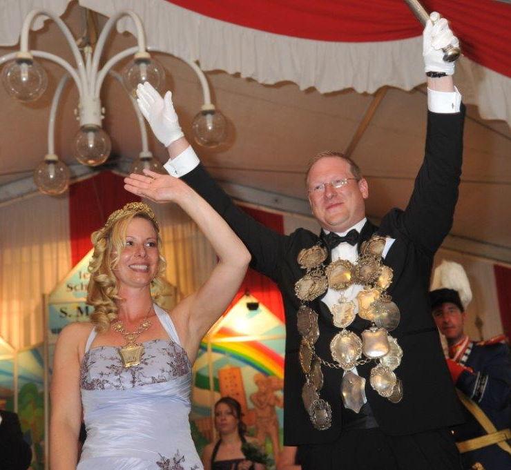 Königspaar Daniel und Sandra Becker
