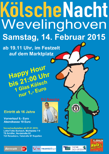 Plakat Kölsche Nacht 2015
