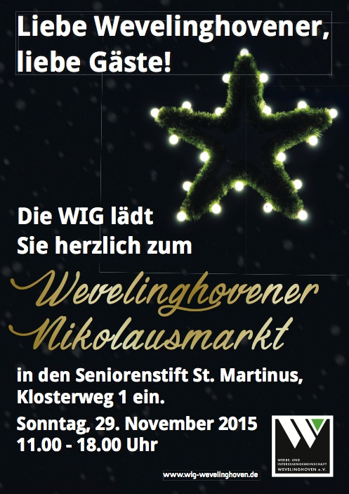 WIG Nikolausmarkt Plakat 2015