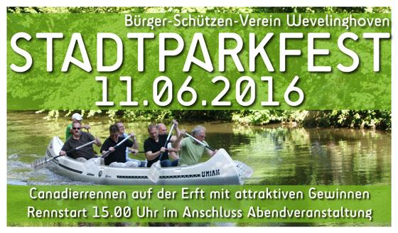 Stadtparkfest 2016 Banner