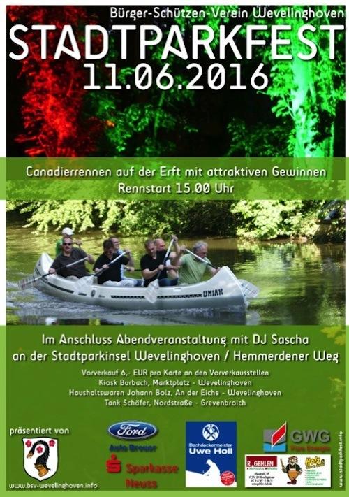 Plakat Stadtparkfest 2016
