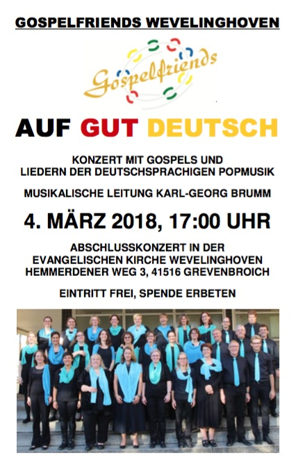 Gospelfriends März 2018
