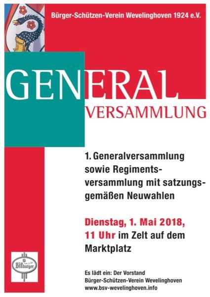 BSV 1. Generalversammlung 2018 Hoetchesjonge