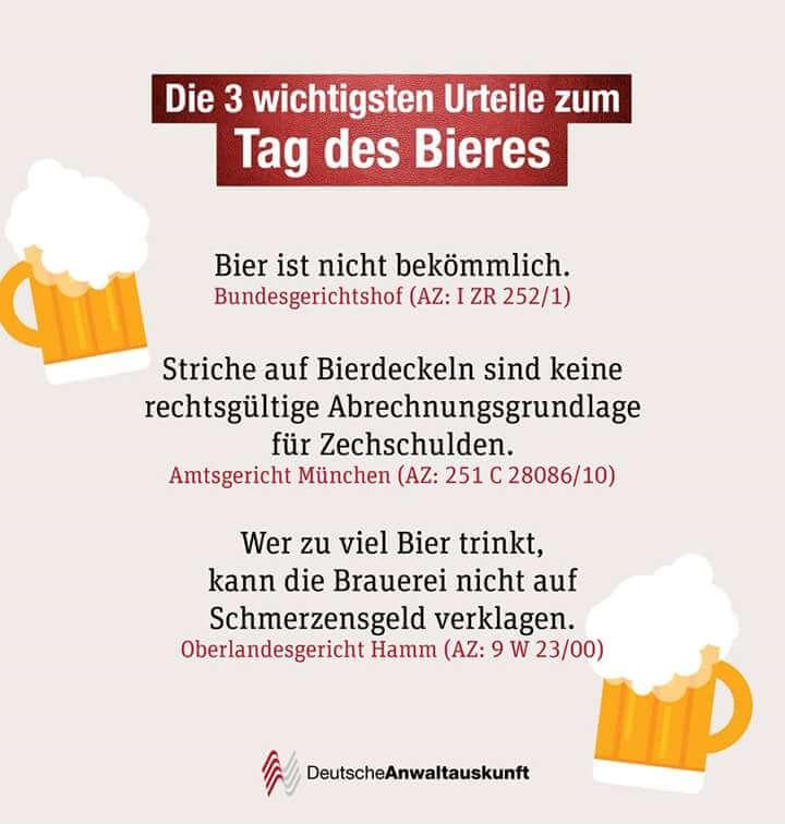 Urteile zum Tag des Bieres