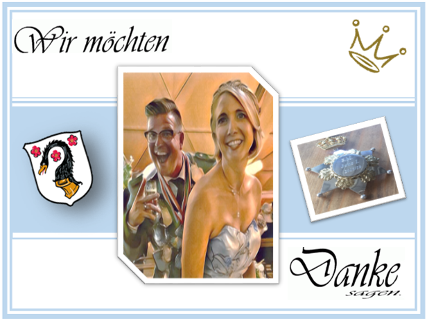 Königspaar Brandofsky Danke Hoetchesjonge